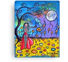 She Brings The Night Canvas Print