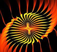 Orange Swirl by Pam Amos