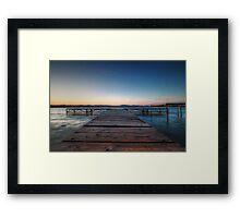 Balaton Pier Framed Print