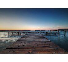 Balaton Pier Photographic Print