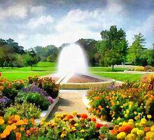 Garden In The Park by Linda Miller Gesualdo