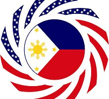 Filipino American Multinational Patriot Flag Series 1.0 by Carbon-Fibre Media
