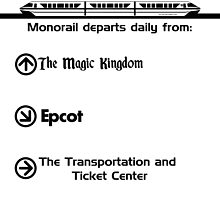 Monorail Departs Daily From... by Jacob Yates