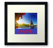 Love paris  Framed Print