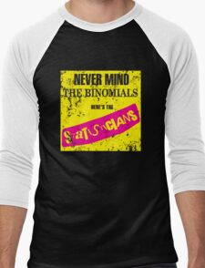 Never Mind The Binomials - Distressed Men's Baseball ¾ T-Shirt