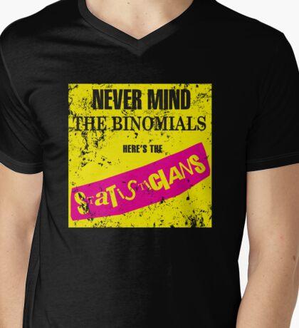 Never Mind The Binomials - Distressed Mens V-Neck T-Shirt