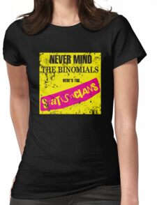 Never Mind The Binomials - Distressed Womens Fitted T-Shirt