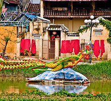 Hoi An Christmas Laundry by phil decocco