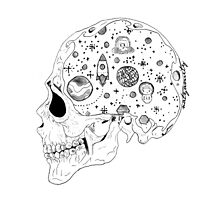 The Space Skull Photographic Print