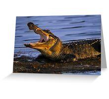 Gator Yawn Greeting Card