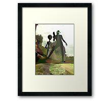Alien Hunters Framed Print