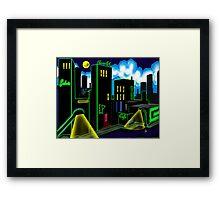 """IntenseCity: Neon Nights"" Framed Print"