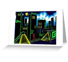 """IntenseCity: Neon Nights"" Greeting Card"