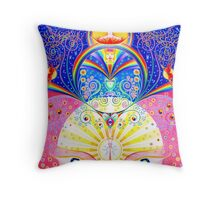 White Orchid Throw Pillow