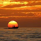 Boat, which takes away the sun until the next morning. by Irina777