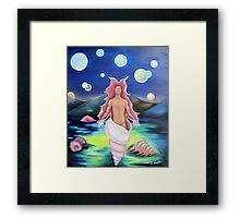 coming out of the shell Framed Print