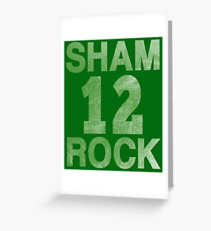 SHAMROCK 12 Irish Greeting Card