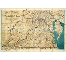 Map of the State of Virginia (1862) Photographic Print