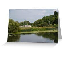 Summer riverside Greeting Card