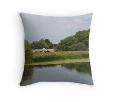 Summer riverside Throw Pillow
