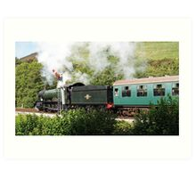 GWR steam loco, 7802, Bradley Manor Art Print