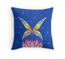 Lotus Butterfly Throw Pillow
