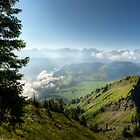 View from the Stanserhorn on Lake Lucerne by Ted Lansing