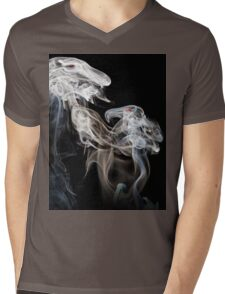 Dragons in smoke Mens V-Neck T-Shirt