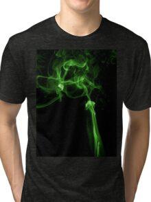 Green matrix style smoke T shirt Tri-blend T-Shirt