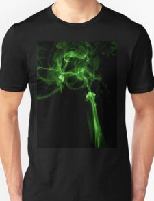 Green matrix style smoke T shirt Unisex T-Shirt