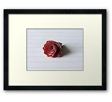 The pencil shaving of love Framed Print