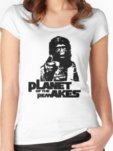 Planet of the Remakes Women's Fitted Scoop T-Shirt