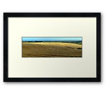 From Hay Bales to the Sea Framed Print