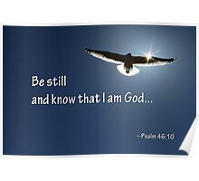 Be Still and Know That I am God Poster