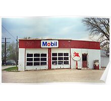 Route 66 - Rusty Mobil Station Poster