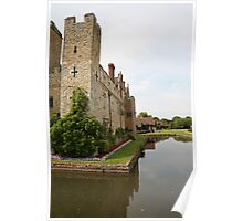 Hever Castle from the sides. Poster