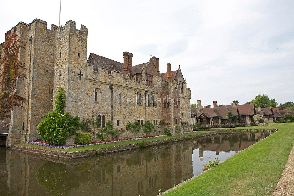 Hever castle reflections by Keith Larby