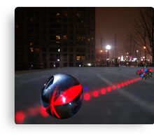 Night Bowling Canvas Print