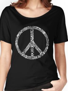 Floral Peace Sign Women's Relaxed Fit T-Shirt