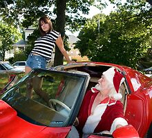 Santa Xmas in his 1977 Red Corvette Stingray by SantaXmas