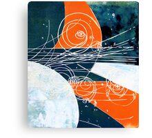 Particle collision Canvas Print