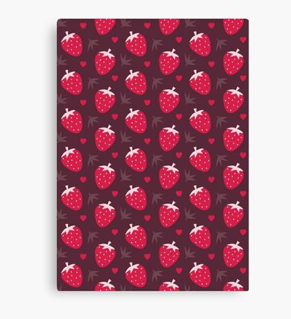 Strawberries and Chocolate Canvas Print