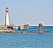 Lighthouse St Ignace HDR Art by Richard Jacobson