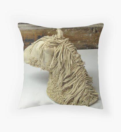 Horse head sculpture Throw Pillow