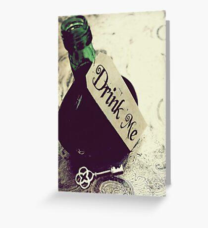 Drink Me Greeting Card