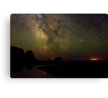 Milky Way from Olympic Coast Canvas Print