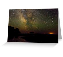 Milky Way from Olympic Coast Greeting Card