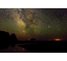 Milky Way from Olympic Coast Photographic Print