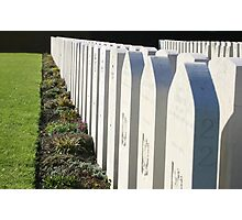 RAF War graves in Dunkerque, France Photographic Print