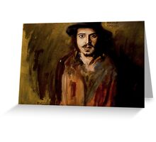 Johnny Depp Oil Painting Greeting Card